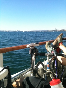 Bikes on a boat!